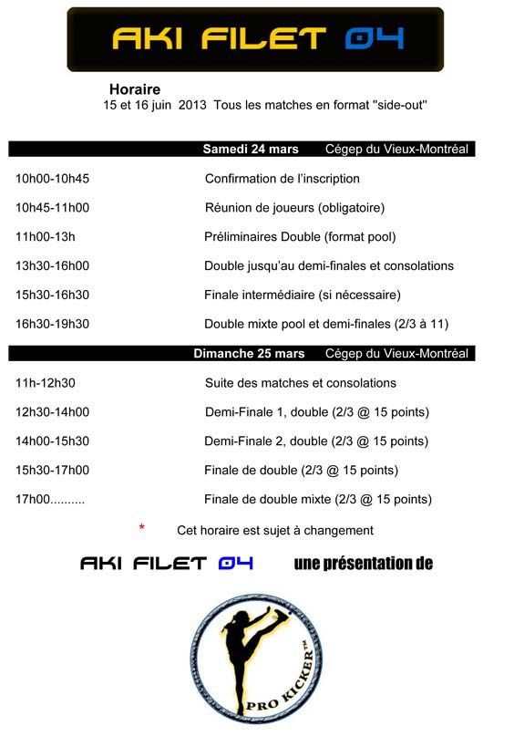 Aki Filet 04 horaire