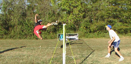 Ben Alston side kick at the 2006 Southeast Footbag Championships on Pro Kicker