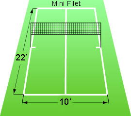 Pro kicker footbag mini net sets for Indoor badminton court height
