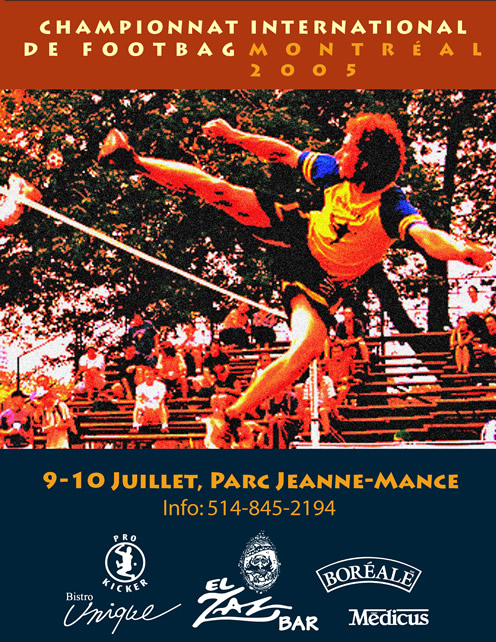2005 Montreal International Footbag Championships Poster