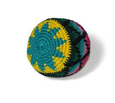 ProKicker Rasta Bag crochet Footbag from Guatemala